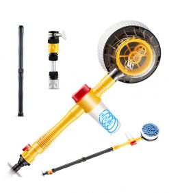360° Spin Car Mop rotating chenille water flow thru brush