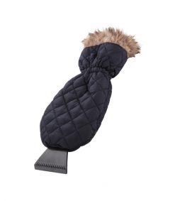 Ice Scraper Mitt Windshield Snow Scraper with Waterproof Glove Lined of Thick Fleece