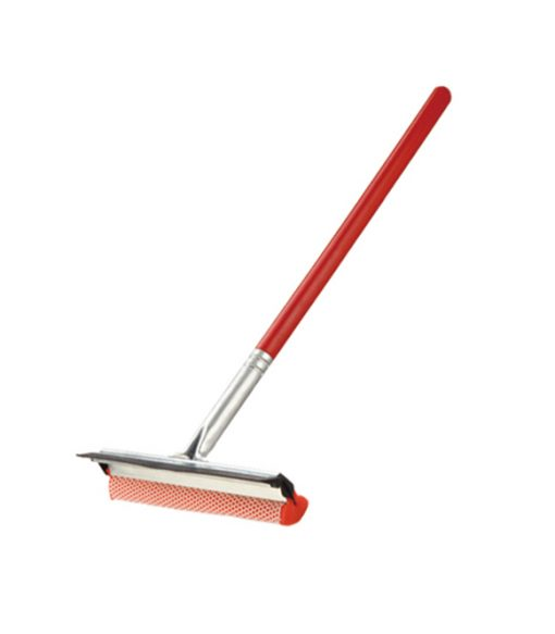 Window Squeegee with Metal Head and Wood Handle10''