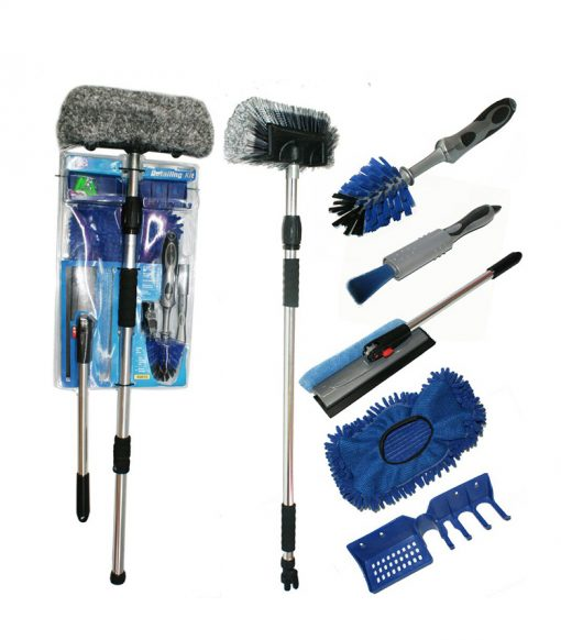 Luxury 5pcs Flow Thru Brush Set in Double Blister Package