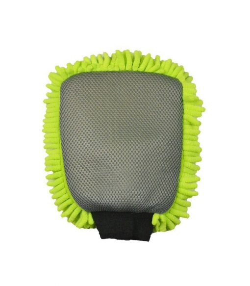 26.5x19cm Dual Sided Chenille Glove with Scrubber Mesh Sponge