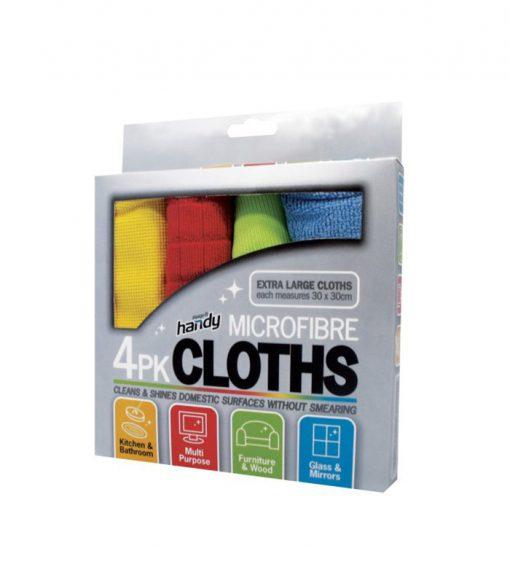 4PK Multi Finished Microfiber Cloth Set for Universal Use