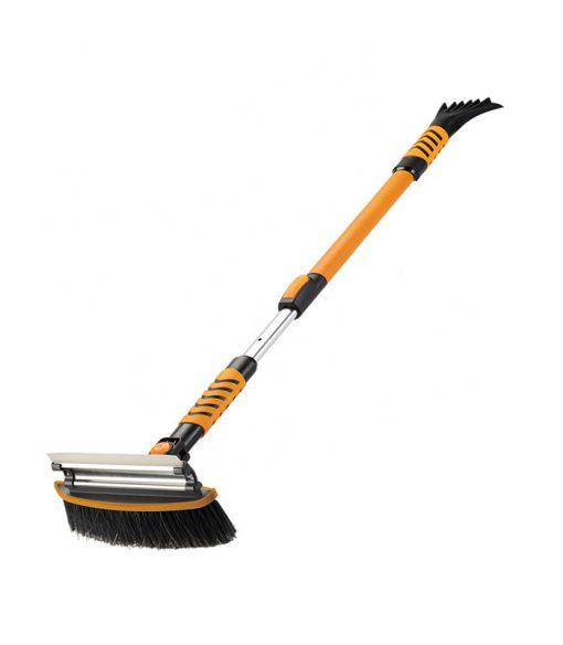 Deluxe Heavy Duty Snow Brush with Silicone Blade
