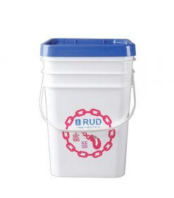5 gallon square plastic bucket with lid