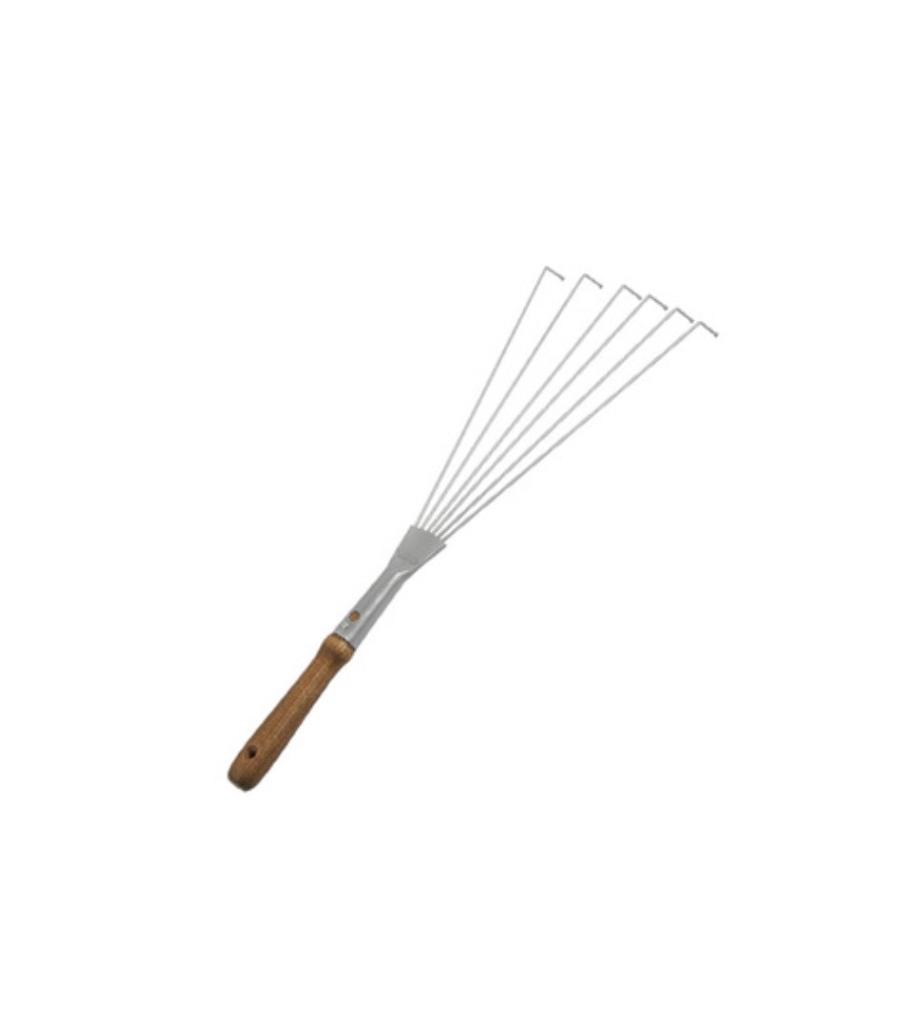 Wood Handle Short Metal Leaf Rake